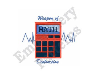Math Warriors Calculator - Machine Embroidery Design
