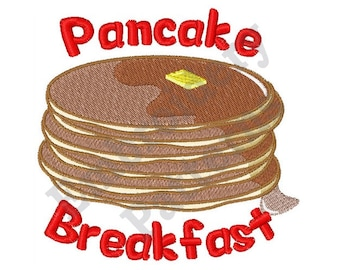 Pancake Breakfast - Machine Embroidery Design