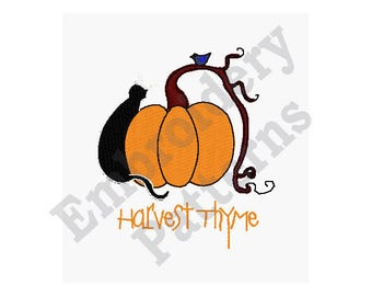 Harvest Thyme - Machine Embroidery Design