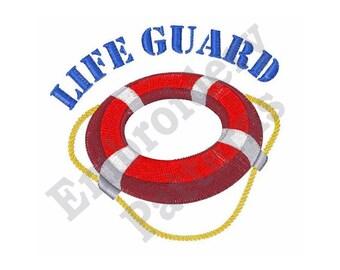 Life Guard - Machine Embroidery Design - 4 X 4 Hoop, Lifesaver, Lifebuoy, Kisby, Preserver, Swim Ring, Lifering, Sayings, Nautical
