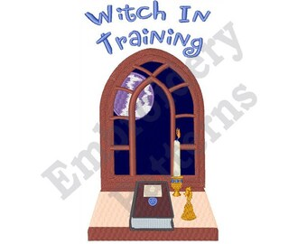 Witch In Training - Machine Embroidery Design - 5 X 7 Hoop, Halloween, Sayings,
