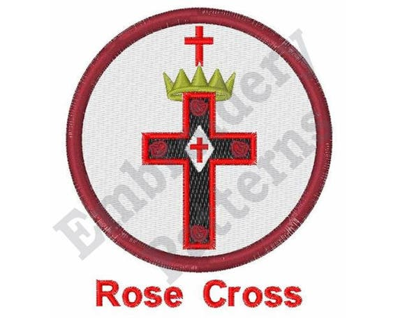 Rose Cross Machine Embroidery Design 4 X 4 Hoop Free Etsy
