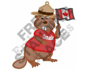 Canadian Beaver - Machine Embroidery Design