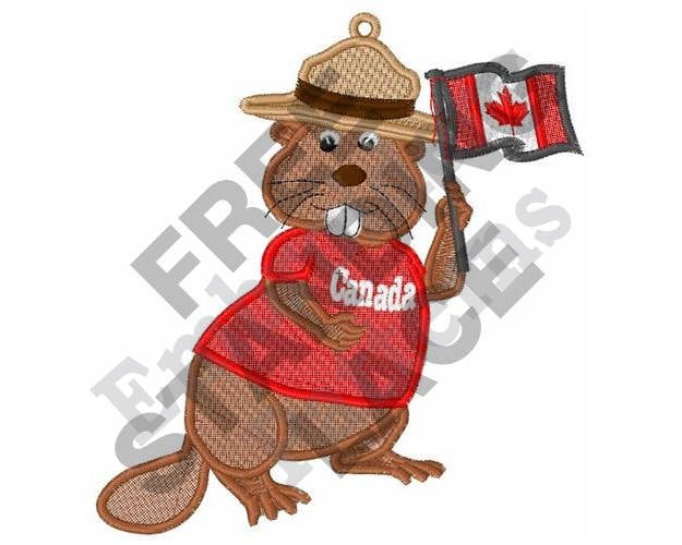 Stand Alone Embroidery Designs : Canadian beaver machine embroidery design hoop fsl