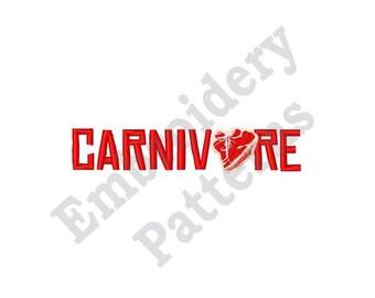 Carnivore - Machine Embroidery Design