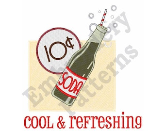 Cool & Refreshing - Machine Embroidery Design