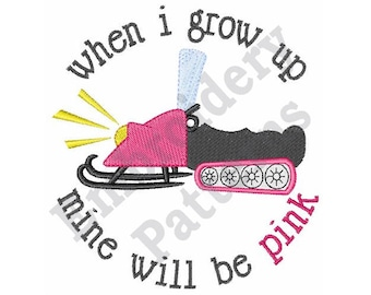 When I Grow Up - Machine Embroidery Design