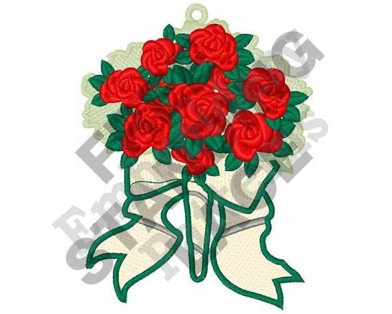 Stand Alone Embroidery Designs : Rose bouquet machine embroidery design fsl free