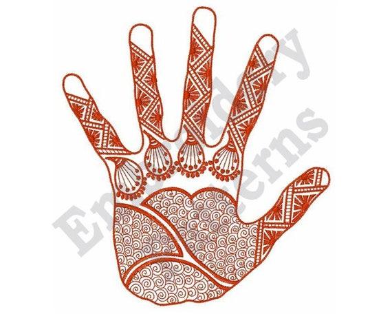 Mehndi Art Machine Embroidery Design Etsy