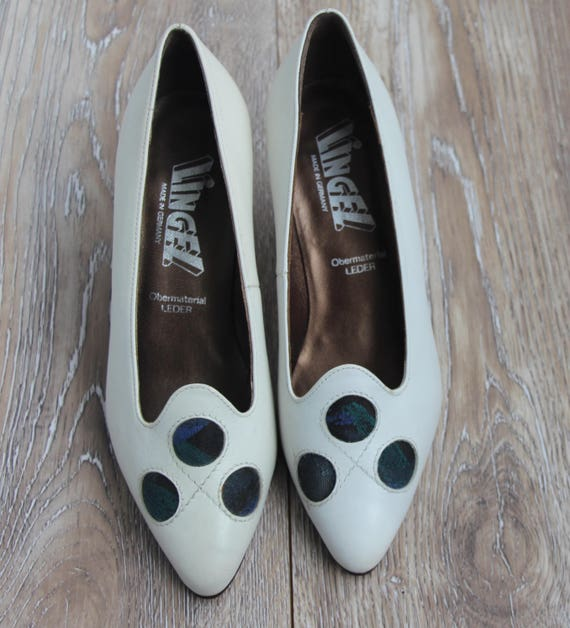 pumps leather High high pumps heels shoes White pumps Elegant shoes Womens white pumps 1980s pumps Vintage Leather Vintage heel women SAfwzz