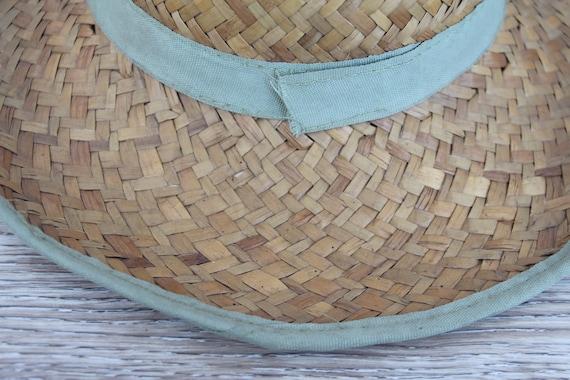 Vintage straw hat men Straw beach hat Natural str… - image 8