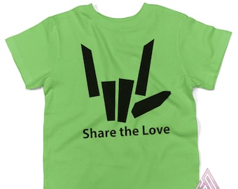 Share the Love -Design green t-shirt kids Stephen Sharer St Patricks day - Adults & Youth sizes