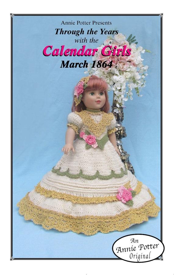 "Crochet  Bridal Party For 18/"" Dolls  Patterns  Annie Potter Original"