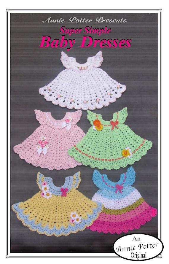Crochet Baby Dress Pattern Super Simple Series Annie Potter Etsy