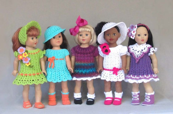Crochet Doll Dress Pattern Simple Dresses Pdf Etsy