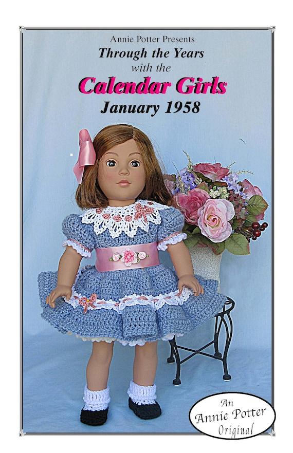 Crochet Calendar Girls February 1853  Annie Potter Original