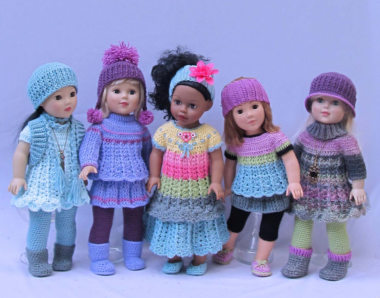 Crochet Doll Clothes Pattern Simple Basic Wardrobe Etsy