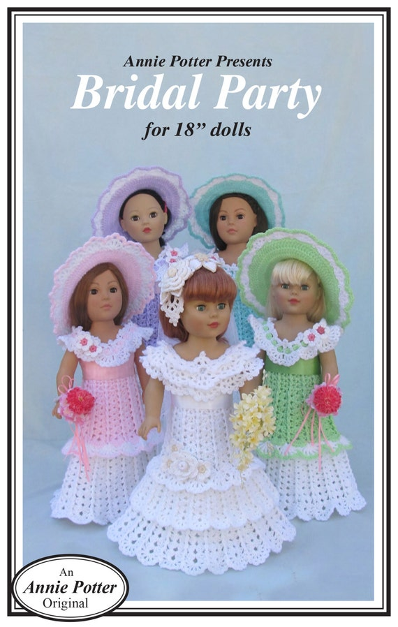 "Crochet Doll Dress /""Holiday Toppers/"""