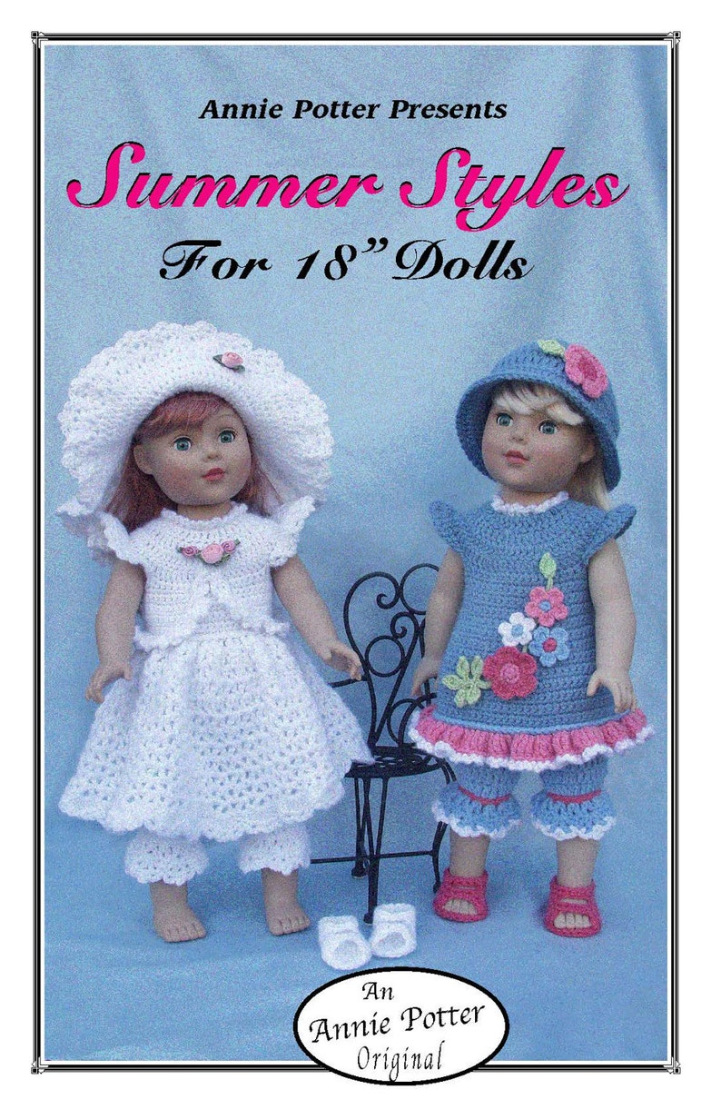 ab1883f33bd1 Crochet doll dress pattern Summer Styles PDF