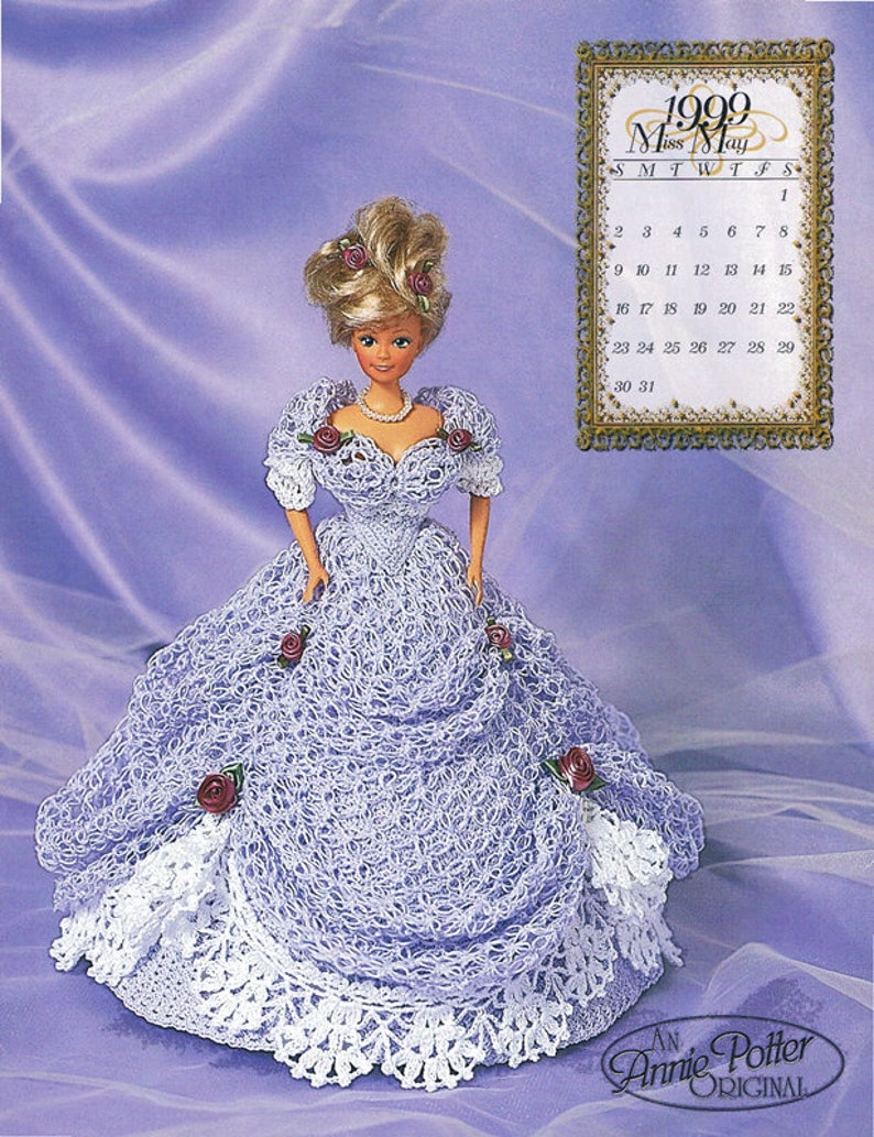 """Crochet Victorian Darlings Patterns  Annie Potter Presents  6 3//4/"""" To 14/"""" Dolls"""