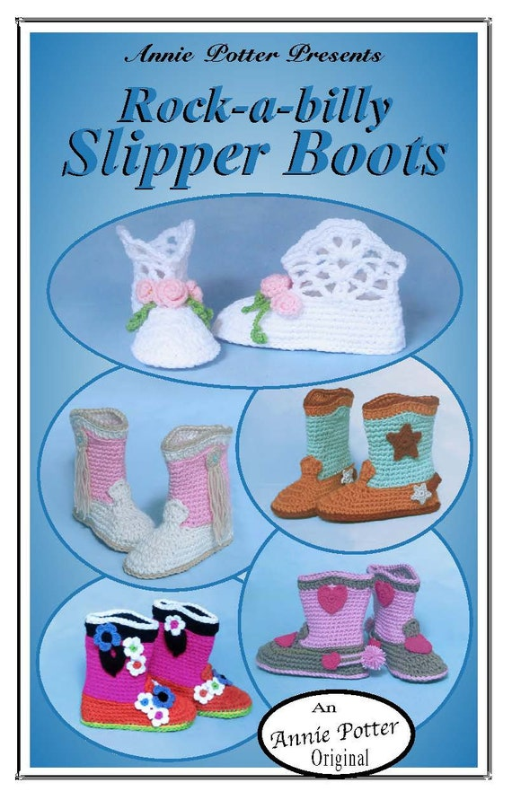PDF Crochet pattern for slippers