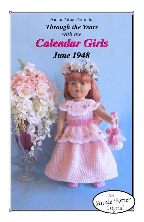 "Crochet Doll Dress /""Bridal Party/"" Annie Potter Pattern"