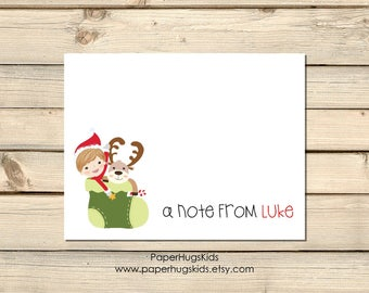 Christmas Thank You Cards Kids / Holiday Thank You Notecards for Kids / Christmas Note Cards / Kids Thank You Cards / Christmas Stationery