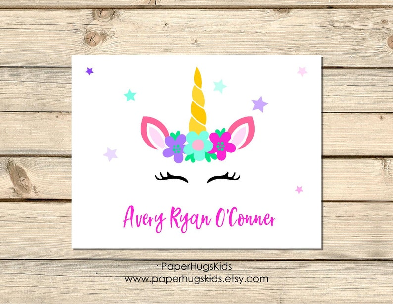 Unicorn Cards Note Thank You