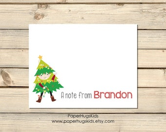 Christmas Note Cards / Holiday Thank You Cards for Kids / Christmas Thank You Cards / Kids Thank You Cards / Christmas Stationery / for boys