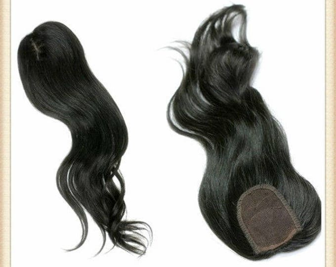 QYQ® Top Lace Closure (Free Parting) Human Hair Extension, 100% Genuine Grade 7A Unprocessed Virgin Remy Human Hair. * Free Shipping