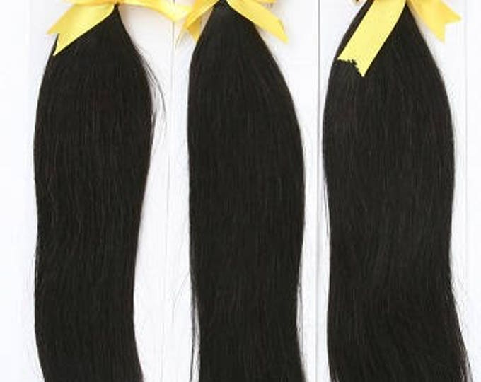 MONGOLIAN VIRGIN REMY Human Hair Extension, 100% Genuine Grade 7A Unprocessed Virgin Remy Human Hair. * Free Shipping