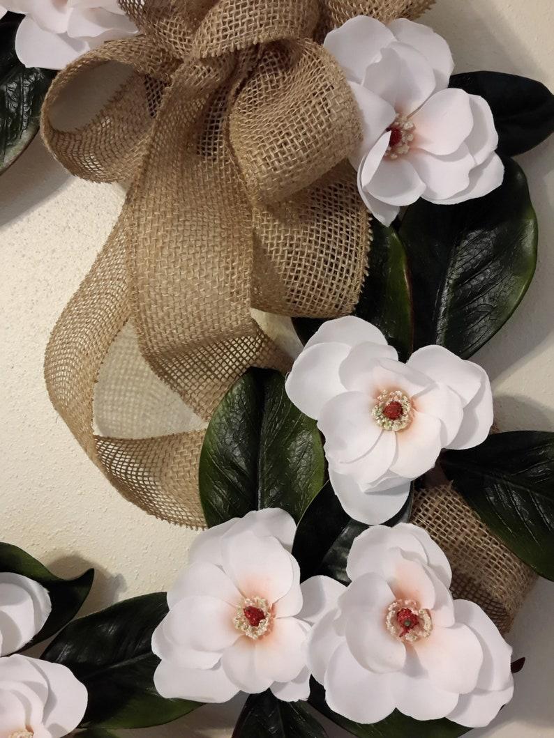 Farmhouse Style Wreath Large Magnolia Wreath