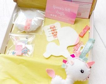 Make Your Own Unicorn Kit DIY Felt Decoration Create Gift Unique Birthday Baby
