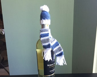 Wine bottle hat and scarf