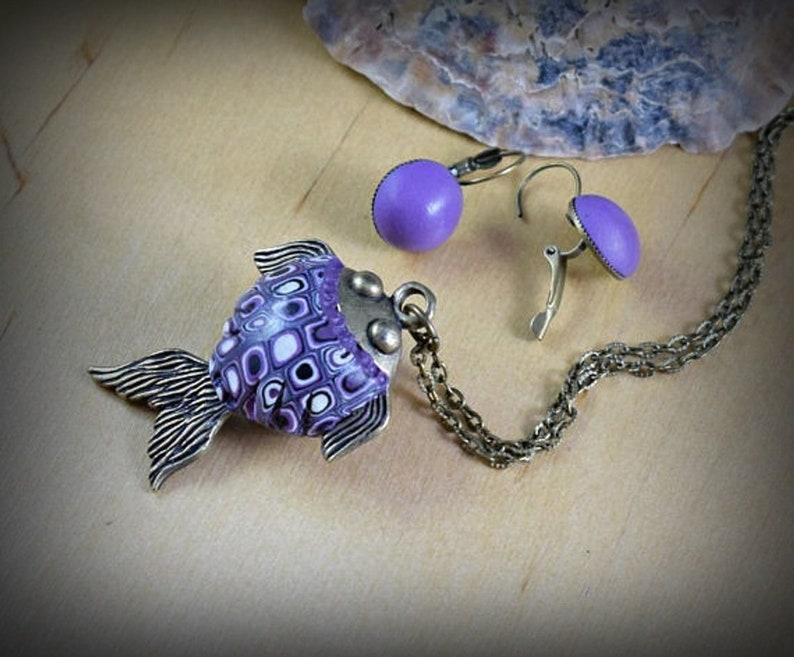 af9b46e6e286 Bisutería bohemia Collar pez Conjunto collar y pendientes