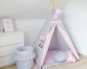 Teepee tents mats pillows bedding for kids von MayabelKids