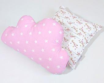 Pillow Cushion Set, Teepee Pillows, Decor Pillows, fancy pillows,  Boy Girl- Cloud Square MayabelKids