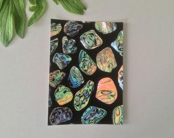A6 Greeting Card - Paua shell series no. 3