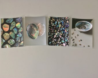 set of A6 Greeting Cards - Paua shell series