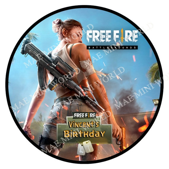 Free Fire Printable Cupcake Toppers Custom Birthday Etsy