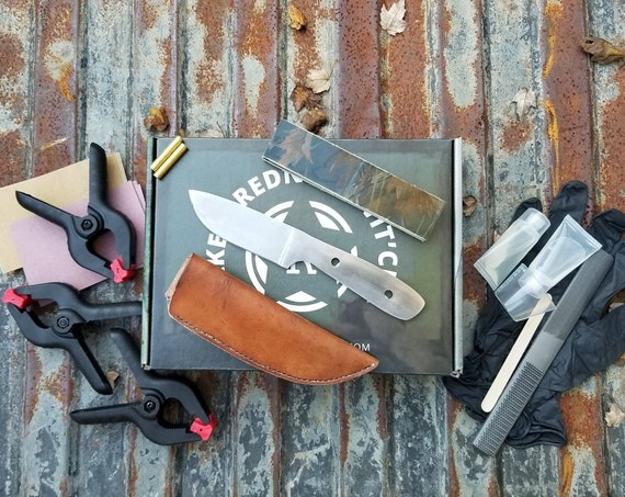 EDC Make It Yourself Knife Kit Complete DIY Hand Forged