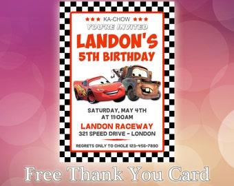 Disney Cars Invitaciones Invitación De Cumpleaños De Cars
