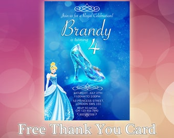 Cinderella Invitation / Disney Cinderella Invite / Cinderella Birthday Invitation / Cinderella Birthday Party / CN01