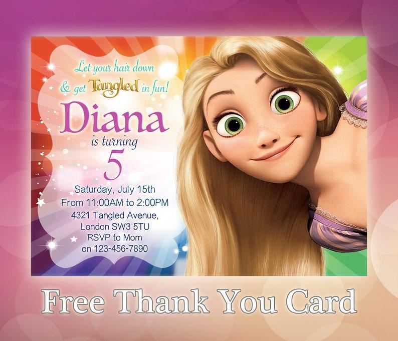 Rapunzel Invitation Birthday