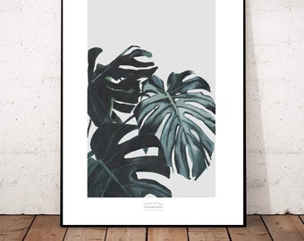 "Big Poster Print ""Monstera 2"" Beautiful Posterprint 42x 54 cm"