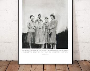 "Big Poster Print ""Caroline Myss"" Beautiful Posterprint 42x 54 cm"