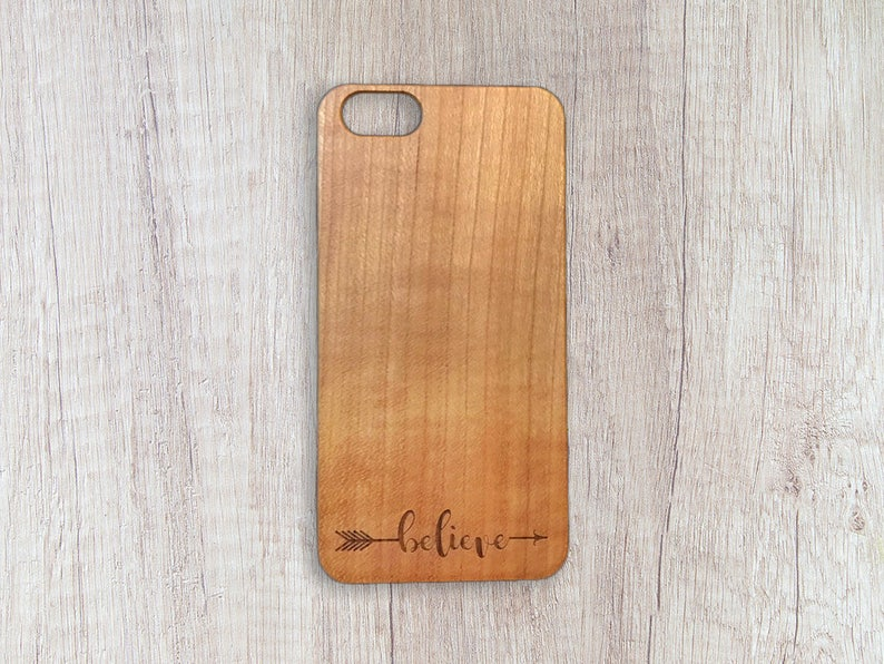 official photos 73f98 f119f Believe - Personalised Wooden Phone Case