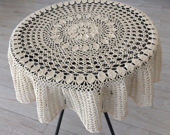 Crochet Table Cloth Etsy