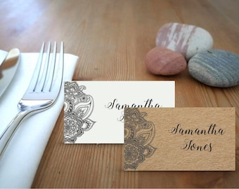 Indian Design Printable Place Cards