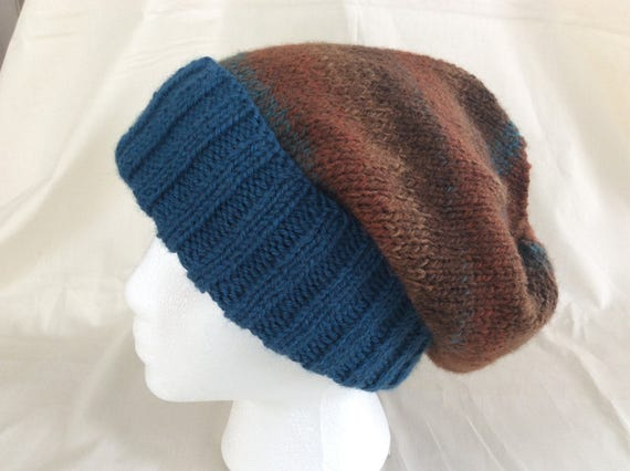 2d35ba01180 Slouchy Hat Hipster Hat Skully Hat Knit Slouchy Hat